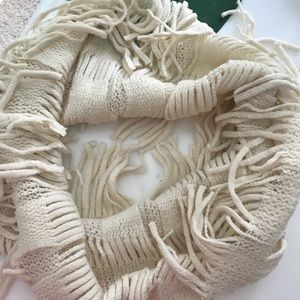 Accessories - BNWT off white fringe infinity scarf